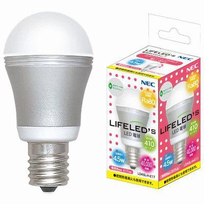 LED電球 小型電球形 電球色 4.5W  E17
