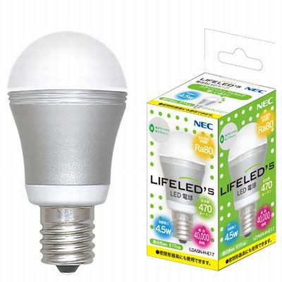 LED電球 小型電球形 昼白色 4.5W E17