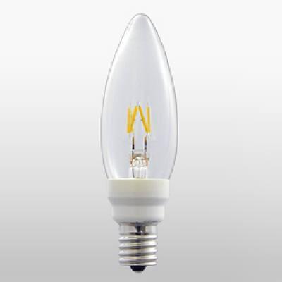 LEDフィラメント電球 シャンデリア形 0.6W E17 Let