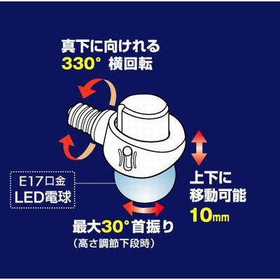 LED電球専用可変式ソケット E17 画像4