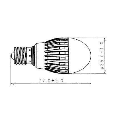 LED電球 小形電球形 電球色 E17 画像3