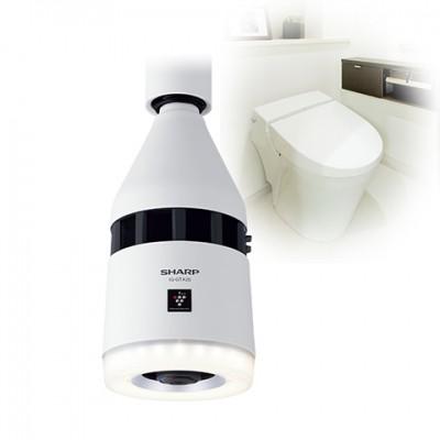 天井設置型(トイレ用) プラズマクラスターイオン発生機 ホワイト LEDダウンライト 電球色 E26 画像4