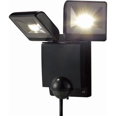 LEDセンサーライト 2灯タイプ(ブラック)
