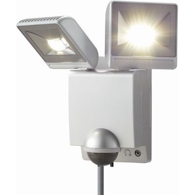 LEDセンサーライト 2灯タイプ(シルバー)
