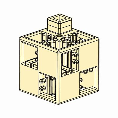 Artecブロック 基本四角 24P 薄黄