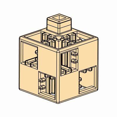 Artecブロック 基本四角 24P ペールオレンジ