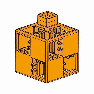 Artecブロック 基本四角 24P オレンジ