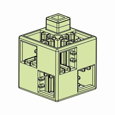 Artecブロック 基本四角 24P 薄緑