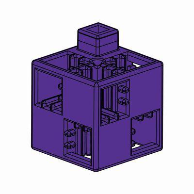 Artecブロック 基本四角 24P 紫
