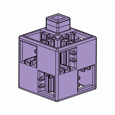 Artecブロック 基本四角 24P 薄紫