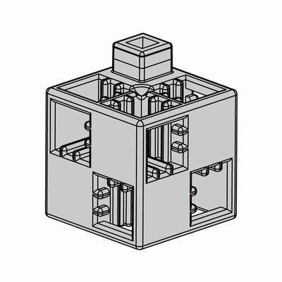 Artecブロック 基本四角 24P 薄グレー