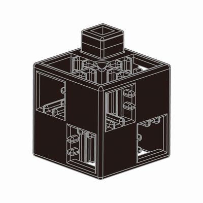 Artecブロック 基本四角 24P 黒