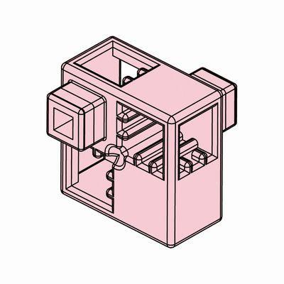 Artecブロック ハーフA 8P 薄ピンク
