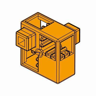 Artecブロック ハーフA 8P オレンジ