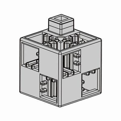 Artecブロック 基本四角 100P 薄グレー