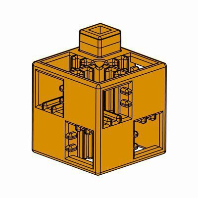 Artecブロック 基本四角 100P 茶