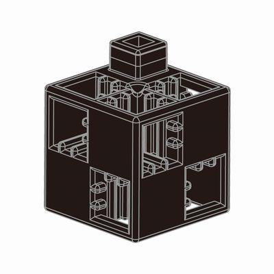 Artecブロック 基本四角 100P 黒