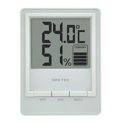 デジタル温湿度計 「スタシス」 ホワイト