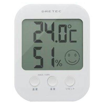 ドリテック デジタル温湿度計 「オプシス」 ホワイト O-230WT