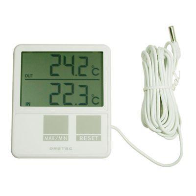 室内室外温度計 ホワイト