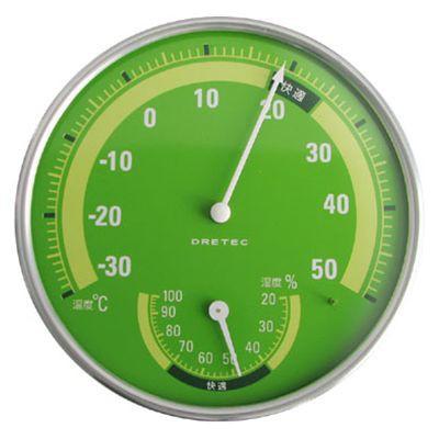 温湿度計 グリーン