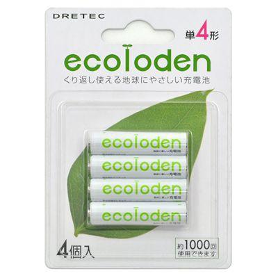 「エコロでん」 単4形充電池 4個パック グリーン 4536117010503