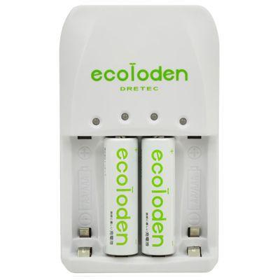 「エコロでん」 急速充電器 単3形充電池×2個入 グリーン 4536117014716