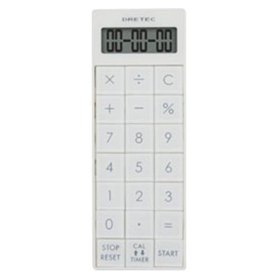 電卓付長時間タイマー ホワイト
