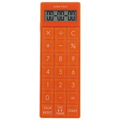 電卓付長時間タイマー オレンジ