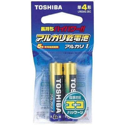 アルカリ乾電池 「アルカリ1」 単4形 2本