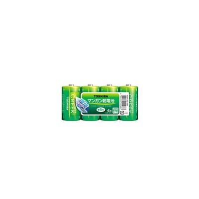 マンガン乾電池 「キングパワークリーク」 単1形 4本
