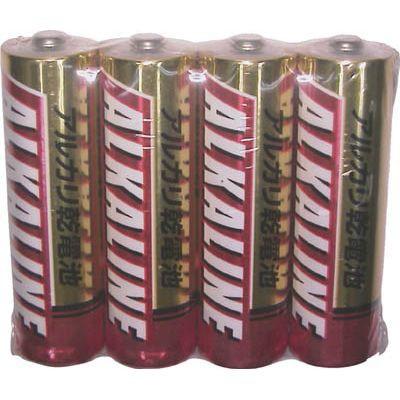三菱 アルカリ単3電池 4本パック LR6R4S