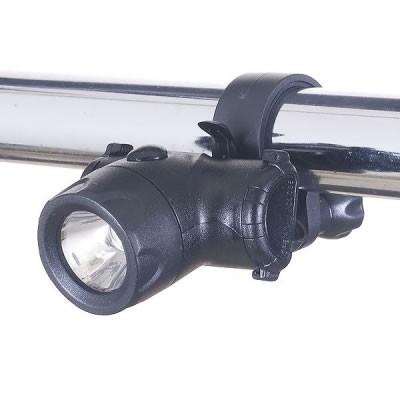 自転車用LEDライト コンパクトタイプ 日亜製白色LED0.5W×1灯