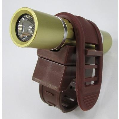 1灯白色LEDアルミバイクライトゴールド