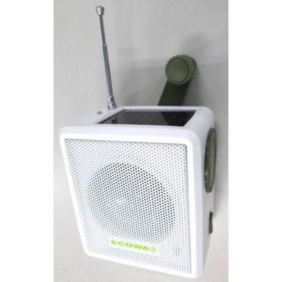 手回し・ソーラー充電式 電池が不要!AM/FMラジオ