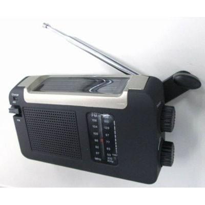 手回し・ソーラー・USB充電式 電池が不要!AM/FMラジオ