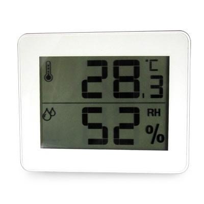 デジタル温湿度計 ホワイト