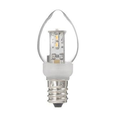 ローソク形LEDランプ電球色E12クリア
