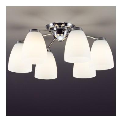 LEDシャンデリア 〜10畳 E26 LED電球9.1W×6灯 電球色