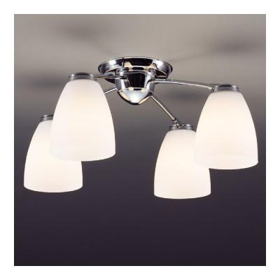 LEDシャンデリア 〜6畳 E26 LED電球9.1W×4灯 電球色