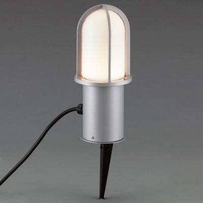 LEDガーデンライト スパイクタイプ ダークシルバー 白熱灯40W相当 電球色