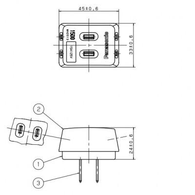 トリプルタップ 15A 125V ホワイト 画像2