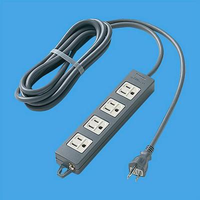 OAタップ 接地コンセント 4個口 マグネット付 コード長3m 15A 125V ブラック