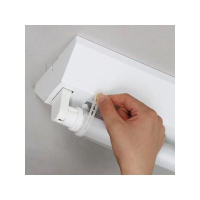 直管形LEDランプ用落下防止パーツ シリコンゴムバンドタイプ 3組入