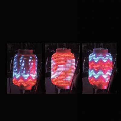 LED電飾 ちょうちん 赤・青 防雨型