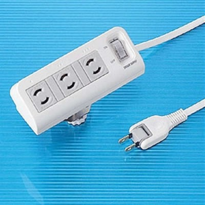2P 抜け止め便利タップ 3個口 電源コード2m