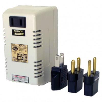 電子式海外用変圧器 全世界対応 A/B/Cタイプ 定格容量:1500W
