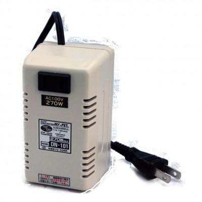 トランス式海外用変圧器 AC110〜130V対応 定格容量:270W