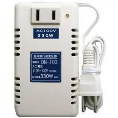 トランス式海外用変圧器 AC110〜130V対応 定格容量:330W