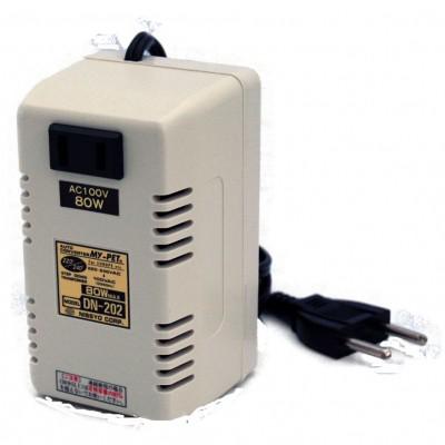 トランス式海外用変圧器 AC220〜240V対応 定格容量:80W